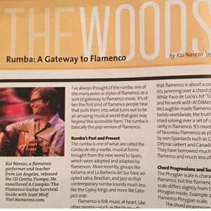 Berklee Today Rumba Article